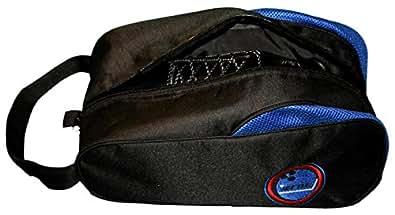 Bowlingtasche BOWLIO - Shoe Bag, Farbe:Schwarz/Blau