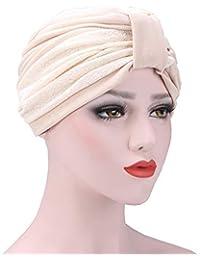 YyZCL Foulard Musulmano per Donna Cappuccio per chemioterapia con Cappello  Baotou in Rilievo Tinta Unita per 0d7e883e1f53