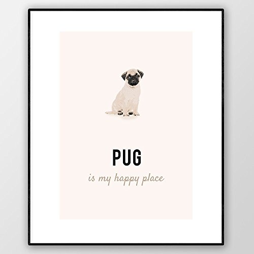 Pug Art Print, Pug Poster, Pug Wall Art, Pug Lovers for sale  Delivered anywhere in UK