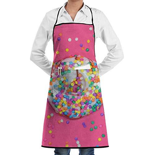 Drempad Unisex Schürzen, Iced Ring Doughnut Faction Unisex Kitchen Cooking Garden Kitchen Cooking Chef Apron Adjustable Sewing Pocket Waterproof Chef Aprons -
