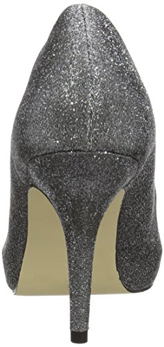 MENBUR Coulanges Damen Peep-Toe Pumps Silber (Pewter 92)