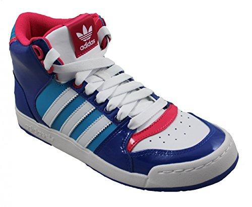adidas Originals Midiru Court Mid 2.0 W, Baskets mode femme blu (Bleu, bleu turquoise, blanc et rose)