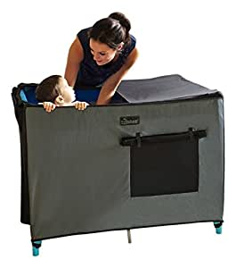 SnoozeShade Portable Blackout Blind and Canopy for Travel Cots  sc 1 st  Amazon UK & SnoozeShade Portable Blackout Blind and Canopy for Travel Cots ...