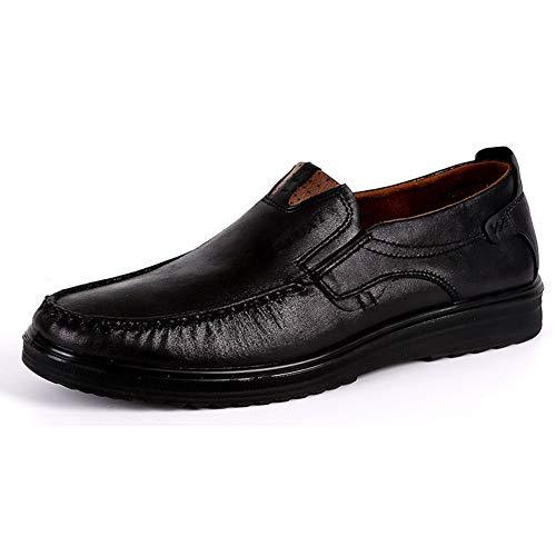 Classic Mocasines Zapatos de Amplio sin Cordones para Hombre Casuales Conducción Antideslizante Ocio...