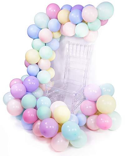 PuTwo Luftballons Pastell, 100 Stück Helium Luftballons Satz von Ballon Pastell in 8 Farben Luftballons Pastellfarben Mix, Latexballons Pastell für Partydeko Pastellfarben, Pastell Deko Hochzeit