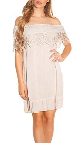 Stand Sommer-Kleid Off Shoulder-Style Carmen Look One Size (Einheitsgröße)