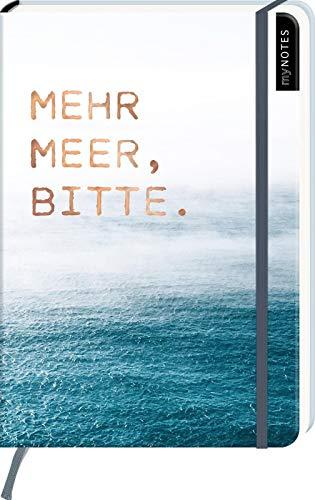 myNOTES Notizbuch A5: Mehr Meer, bitte. - notebook medium, dotted - für Träume, Pläne und Ideen / ideal als Bullet Journal oder Tagebuch (Journal Oder Tagebuch)