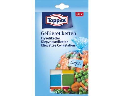 Toppits® Gefrieretiketten / Selbstklebende Etiketten (60 Stück / Gefrierfest)