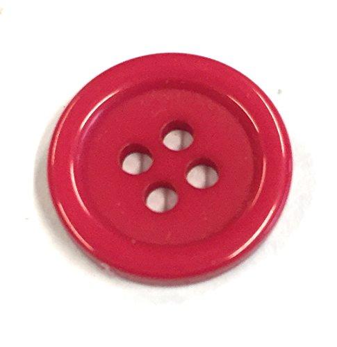 Bastel Express Boutons en Plastique 15 mm en Acrylique (Pompier)