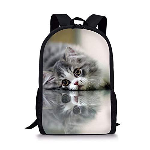 Kawaii Siamesische Katze 3D Rucksack gedruckt -