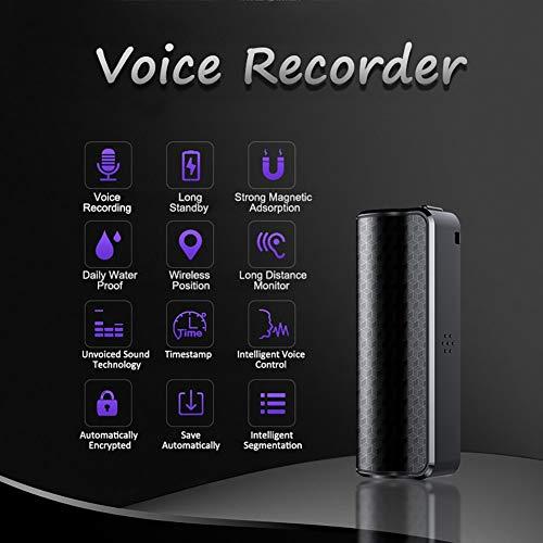 8G / 16G Mini magnetische Digital Voice Activated Recorder Audio Sound Recorder wasserdicht mit Hd Mic 16 Gb B (Digital-audio-recorder Mic)