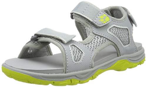 Jack Wolfskin Jungen Puno Beach Sandal B, Sport Sandalen, Grau (Slate Grey 6046), 35 EU (Slipper Jungen Schuhe)