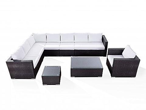 Sectional Outdoor Lounge Set - Modern Resin Wicker Furniture - XXL