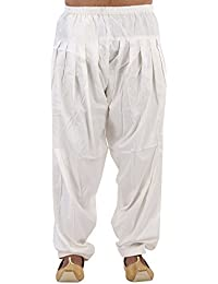 Magnet Men's Cotton Silk Patiala Pants White_Free Size