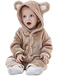 240e896c040 D Newborn Baby Hooded Romper Winter Jumpsuit Pajamas