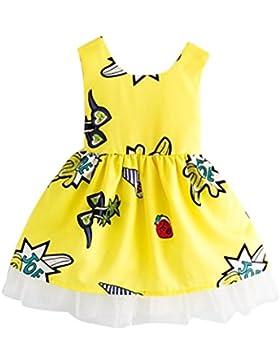 Vestidos niñas, Switchali Niños Bebé Niña Verano moda sin Mangas bowknot vestido encaje floral Tutú vestidos de...