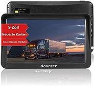 Navigation für LKW, Aonerex 9 Zoll GPS Navi für Auto PKW KFZ Navigationsgerät Lebenslang Kostenloses Kartenupd