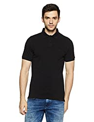 Indian Terrain Mens Solid Regular Fit T-Shirt (ITA17TSD047_Black_Medium)