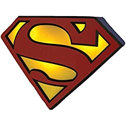 Superman DC Comics - Lámpara logo, 19 cm, color azul