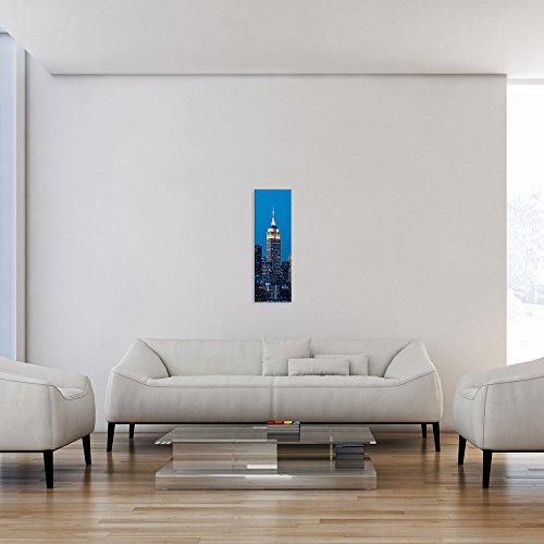 malango® - Leinwandbild - Stadtbild - Leinwanddesign in Premium Qualität 1-Teiler Panorama im Hochformat spezielle Latex-Farbe auf Premium Leinwandstoff 30 x 90 cm