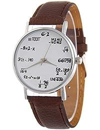 Matemáticas de Reloj Estudiantes Reloj de Pulsera Student Boys Girls Watch con matemáticas Ecuaciones Esfera Plate