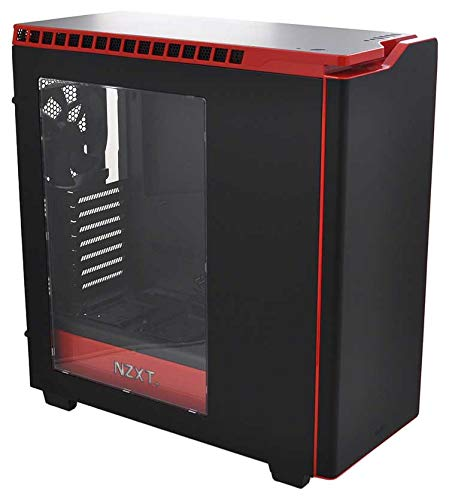 'VIBOX Legend 8–Computer per gaming, 27, Intel i7–5960X, 32GB di RAM, hard disk da 3TB, NVIDIA GeForce GTX 980Ti SLI, Windows 10: Nero e Rosso–Tastiera QWERTY Inglese