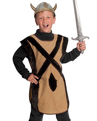 KarnevalsTeufel Kinder-Kostüm Nordmann, einteiliger Überwurf für Wikinger, Barbaren und Ritter - Kelten Kostüm Kinder