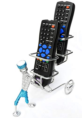 ORCHID ENGINEERS Metal Remote Holder/Stand Showpiece, Standard Size, Chrome