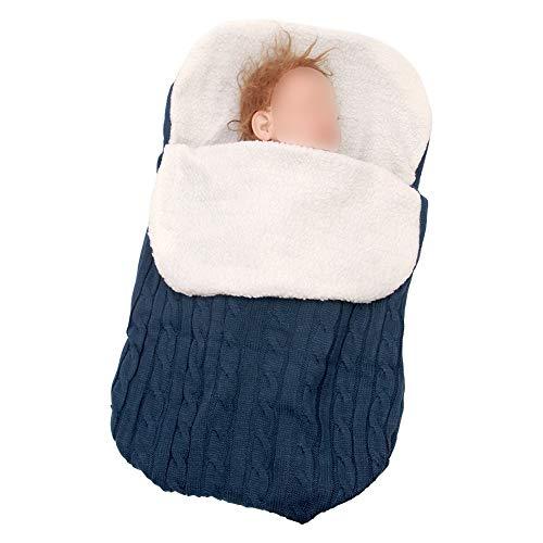 Poonkuos Babydecke Wickeln - Neugeborenen Kinderwagen Schlafsack Kleinkind Bundle Knit Bunting Weichen Fußsack Fleece Schlafsack für Fotografie