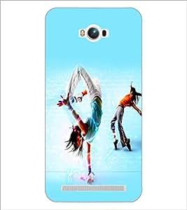PrintDhaba Dance D-2267 Back Case Cover for ASUS ZENFONE MAX ZC550KL (Multi-Coloured)