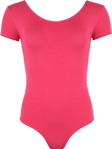 WearAll - Damen elastischer Body Top - Cerise - 36-38 (Ferse Der Rückseite)