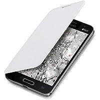kwmobile Funda potectora práctica y chic FLIP COVER para Samsung Galaxy Core II Duos en blanco
