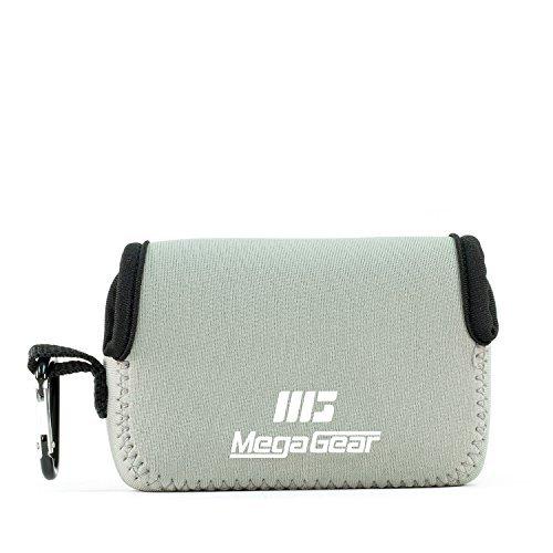 MegaGear mg718Ultra luz Funda de Neopreno con mosquetón para Panasonic Lumix dc-zs70/dc-tz90/dmc-zs100/TZ100/tz101Cámara–Gris