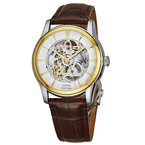 Oris Men's Artelier 40mm Leather Band Automatic Watch 00 734 7670 4351-LS73
