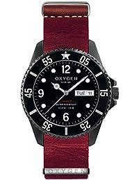 University Sports Press EX-D-MBB-44-NL-RE - Reloj de cuarzo unisex, correa de cuero color rojo