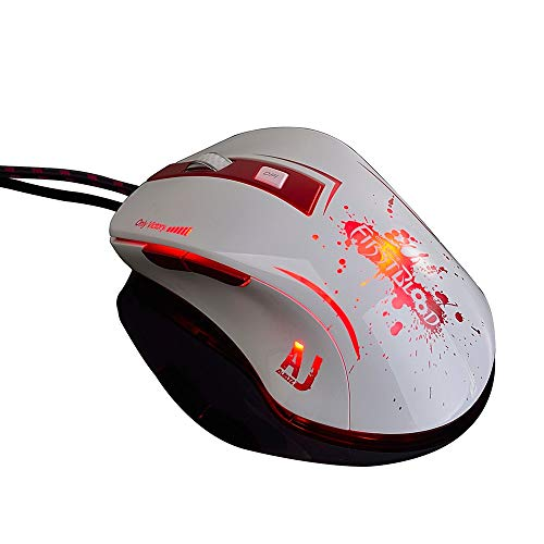 VITASS Maus AJ100 Kabelgebundene Maus 6 Tasten A98001600 / 3200/6000/8200 DPI Benutzerdefinierte, farbenfrohe, atmungsaktive 16-Millionen-LED-Maus für professionelle Spiele - Microsoft Maus 6000