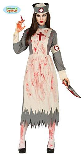 gespenstische Krankenschwester Geister Damen blutiges Halloween Geist Gespenst Horror Kostüm Gr. M-L, Größe:L (Zombie Krankenschwester Kostüm)