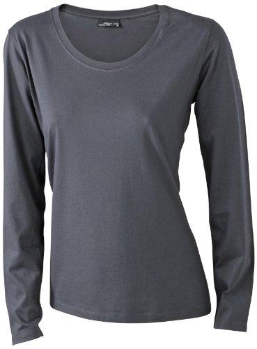 James & Nicholson Damen T-Shirt Langarmshirt XXX-Large graphite (Langarm-shirt Graphit)