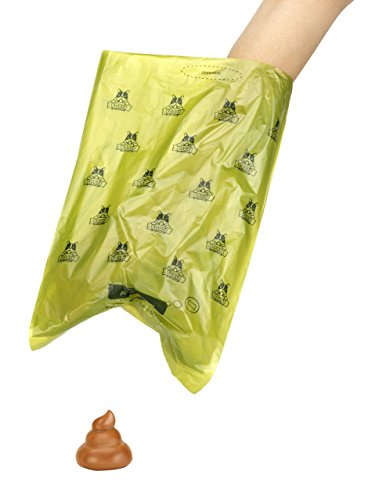 Pogi's Hundekotbeutel – 50 Rollen (750 Tüten) +2 Spender – große, biologisch abbaubare, parfümierte, tropfsichere Hundetüten - 5