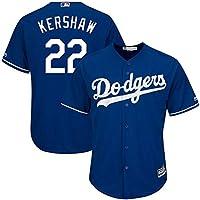 YQSB Camiseta Deportiva Baseball Jersey Grandes Ligas de béisbol # 22 Kershaw Los Angeles Dodgers,Blue,Men-M