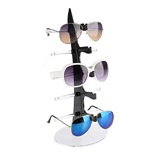 Brillenständer Brillenanzeige Halter Brillenregal Brillenaufsteller Sonnenbrillen Ständer Rack Lagerung Inhaber Verkauf Vitrine, 5 Paar Brillenhalter zur Aufbewahrung und Präsentation (Schwarz)