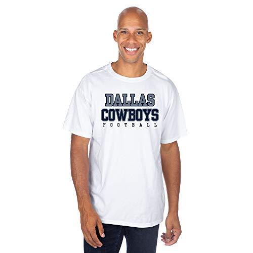 NFL Dallas Cowboys Mens Practice T-Shirt, White, Medium -