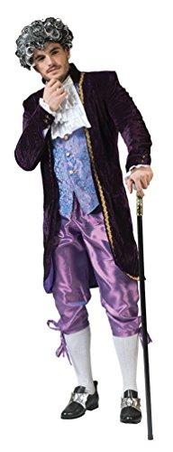 arock Kostüm Herren Renaissance Kostüm Herren Rokoko Herren-Kostüm lila flieder Größe 56/58 (Renaissance-kostüme Für Erwachsene)