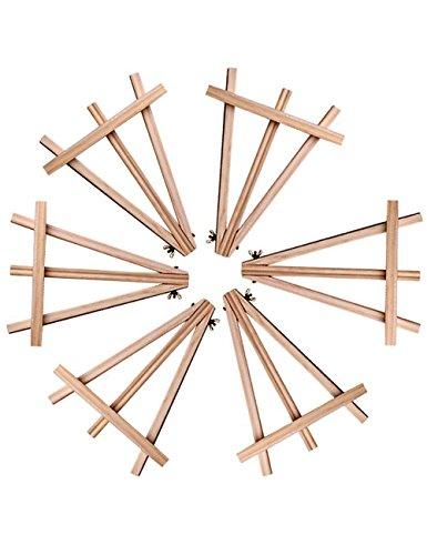 6-panel-massivholz (Meeden 24cm Mini Holz-Staffelei für Hochzeiten und Partys, Kartenhalter, (6er Pack))