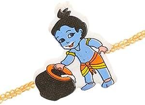 Rakhis - Krishna Rakhi ( Multi Colour,Rectangular)