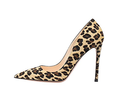 Guoar - Scarpe chiuse Donna leopardo