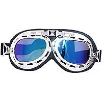 Eizur Annata Occhiali da sole UV Proteggere Ciclismo Occhialini Lenti a specchio Multicolore Antivento e Anti-polvere per Occhiali Sport Esterno Sci Driving Moto Arrampicata Colorato - Porta Specchio Ottica