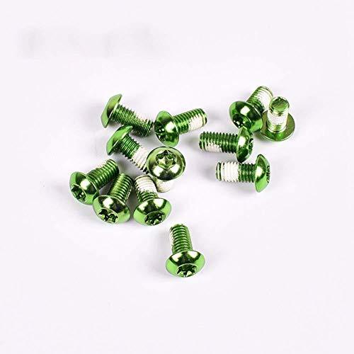 12pcs / pack duraderos Tornillos Mtb disco del rotor del freno de la bici Torx T25 tornillos de acero...