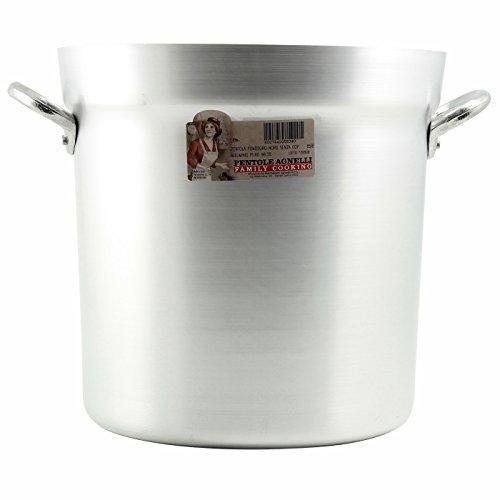 Salsa-topf (Pentole Agnelli Tomate Kochtopf mit 2Griffen, Typ Nord, Aluminium, silber Modern 98 Litri grau)
