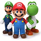 3pcs/set Super Mario Bros Luigi Mario Yoshi PVC Action Figures toy 13cm by Brand